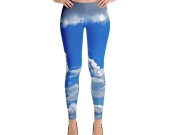Sky Clouds Leggings For Women Yoga Pants Yoga Leggings Workout Leggings Pattern Leggings Printed Leggings Fashion Leggings Womens Tights