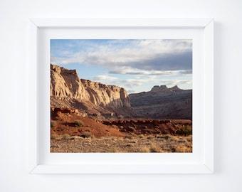 Desert photo print - Utah landscape photograph - Nature wall art - Large wall decor - Framed art - Natural earth tones