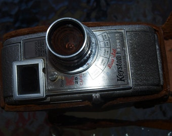 """A working 8MM Keystone """"dial set"""" movie camera in case"""