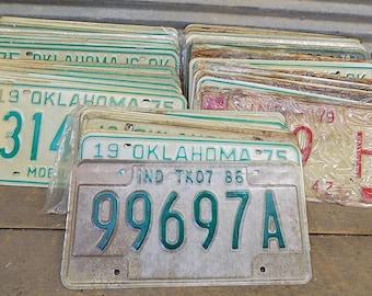 Set of 50 License Plates Lot Vintage Automobile Car Truck Tags je,  Vintage License Plates, Vintage Car Tags, Truck Tags, License Plate Art