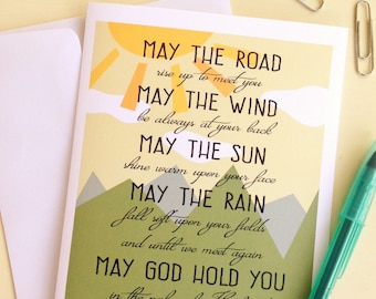 May the Road Rise Up To Meet You Note Card
