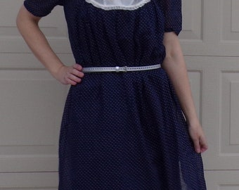 """SHEER PINDOT 1940's DRESS rare maternity or volup 42"""" bust (A8)"""