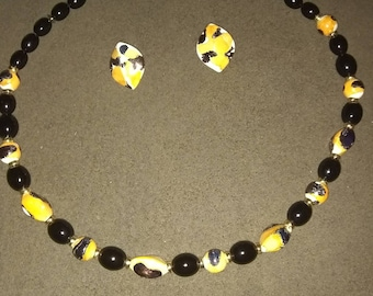 Necklace and Earring Set made in Japan