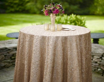 Copper Sequin Tablecloth Select Your Color Amp Size Sequin