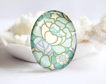 Flower Handmade Oval Photo glass Cabochons Image Glass Cover For Charm 30x40mm 18x25mm 13x18mm 10x14mm (P2382)