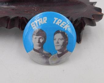 Rare 1966's Vintage Star Trek  Pin Pinback Button Dr26