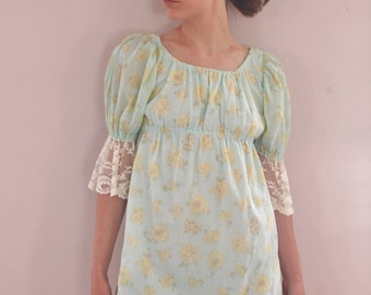 Adorable 70's Micro Mini Babydoll Dress