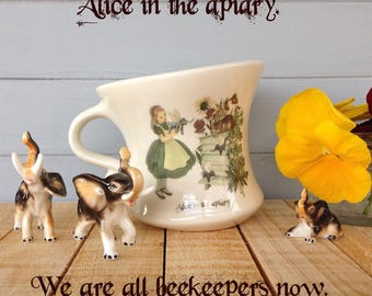 Wonderland Home Decor, Dancing Teacup, Alice in Wonderland, Through the Looking Glass, Alice teacup, teacup, Save the bees