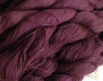 Reddish Plum Alpaca Silk Yak 3 Ply Yarn
