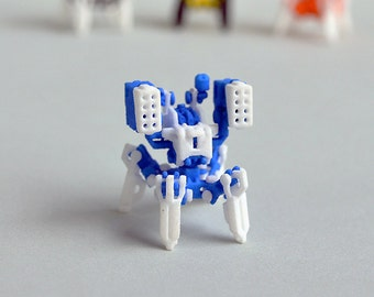 Neurobtoa: boxer. 3D printed articulated mini robot construction figure like never before