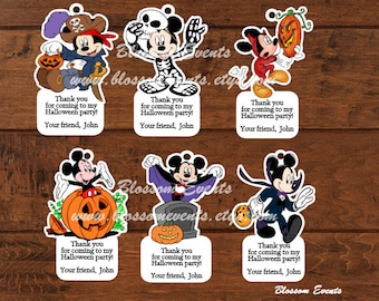 Mickey Mouse Halloween Tags