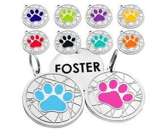 Dog Tag, Personalized Dog Tag, Engraved Dog Tags, Bone Dog Id Tag, Paw Dog Tag Dogs, Heart Dog Id Tag