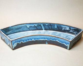 Vaso a ventaglio per Ikebana Rimpa Light blue