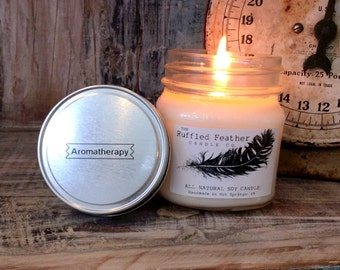 Aromatherapy Soy Candle, The Spa, All Natural Soy Candle, 10oz, The Spa @ The Ruffled Feather Candle Co.