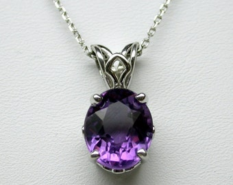 Amethyst Necklace/ Sterling Silver Amethyst Necklace/ Oval Amethyst/ February Birthstone/ Genuine Amethyst/ Genuine Gemstone Necklace/Dainty