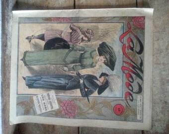 Antique French fashion magazine 1912