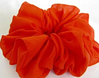Bright Orange Ponytail Holder - #148