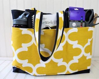 Teacher Bag With Pockets - Teacher Bags -Teacher Tote Bags - Teacher Tote - Teacher Bag - Gifts for Teachers- Teacher Bag Canvas