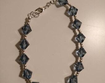 Denim Blue Swarovski Bracelet.