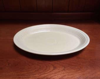 Vintage Fiestaware Pale Yellow Platter Serving Dish