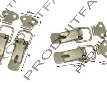 Set of 4 clasps locks spring trunk box crate Metal Toolbox