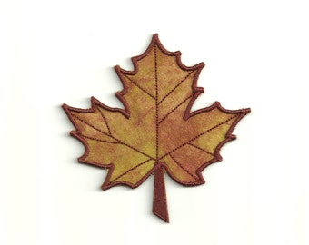 Fall Maple Leaf Patch! Custom Made, any color!