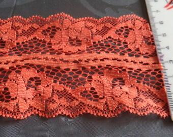 lace orange width 7 cm of superb quality new