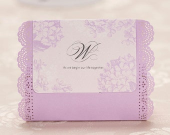 10 Purple White Wedding Favors Boxes, Wedding Gift Boxes for guest, Guest Thank You Box , Wedding Party Favor Box