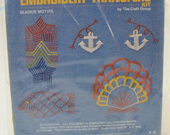 1960 Sea Inspired Embroidery Pattern