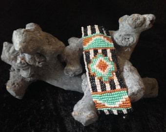 Boho cuff bracelet in native style