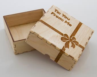 Personalized Laser Cut Wooden Gift Box