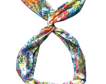 Colorful Floral Wire Headband by Byrd