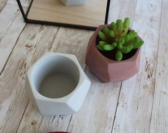Small twisted concrete planter