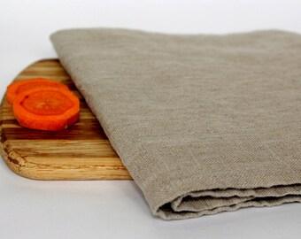 Stonewashed Linen Tea Towels/ Rustic Flax Linen Dish Towels/ Grey 100% Linen Kitchen Towel/ Natural Hand Towels/ Soft Washed Linen