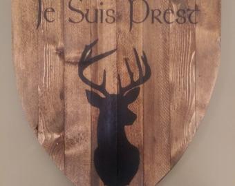 Rustic Outlander Wood Sign - Je Suis Prest