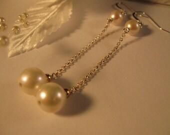 Pearl Dangle Earrings,pearl earrings,drop earrings,silver earrings, dangle earrings, bridal earrings, wedding earrings, pearl jewelry