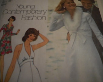 Vintage 1970's Simplicity 6658 Dress and Jacket Sewing Pattern Size 14 Bust 36