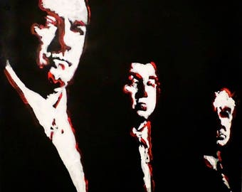 The Sopranos Original Painting by Matt Pecson MADE TO ORDER Canvas Painting Canvas Wall Art Best Selling Items Wall Decor Home Decor