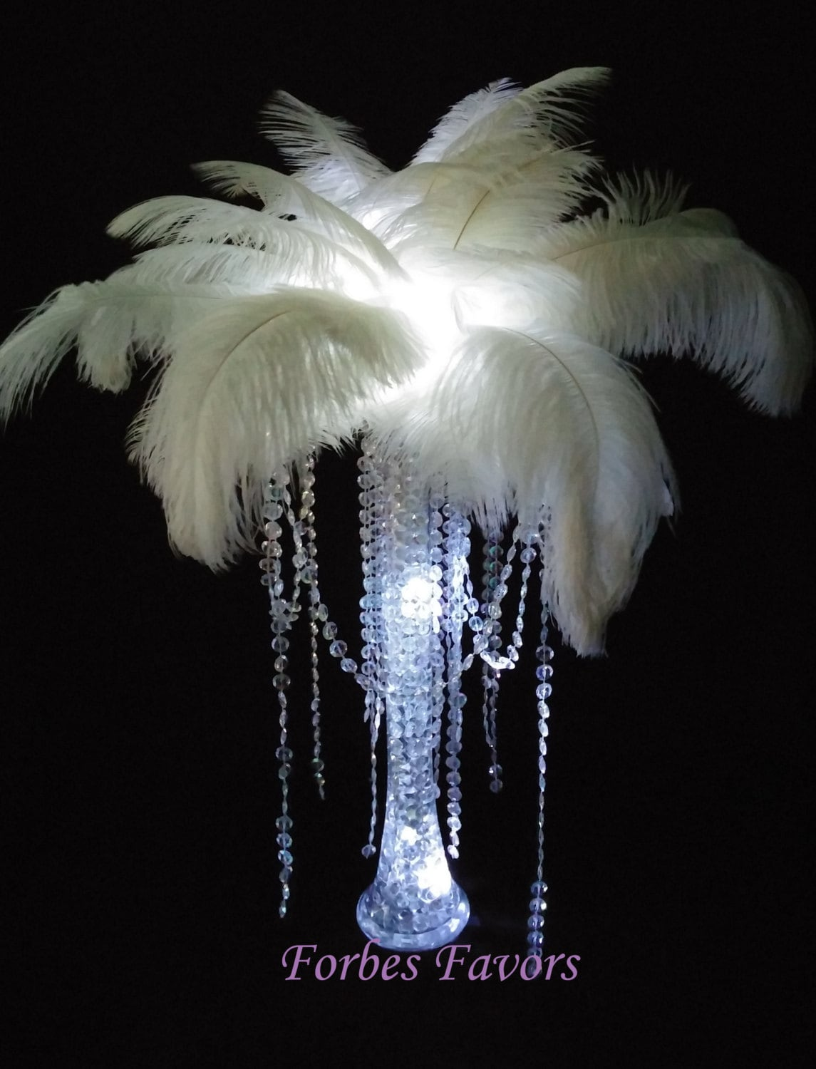 Diy charming ostrich feather centerpiece with crystal garland zoom reviewsmspy