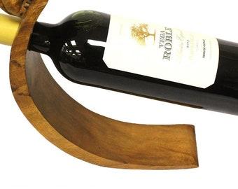 Balance Suar wood wine holder  - cat , mouse, dolphin, gekko, snail, turtle