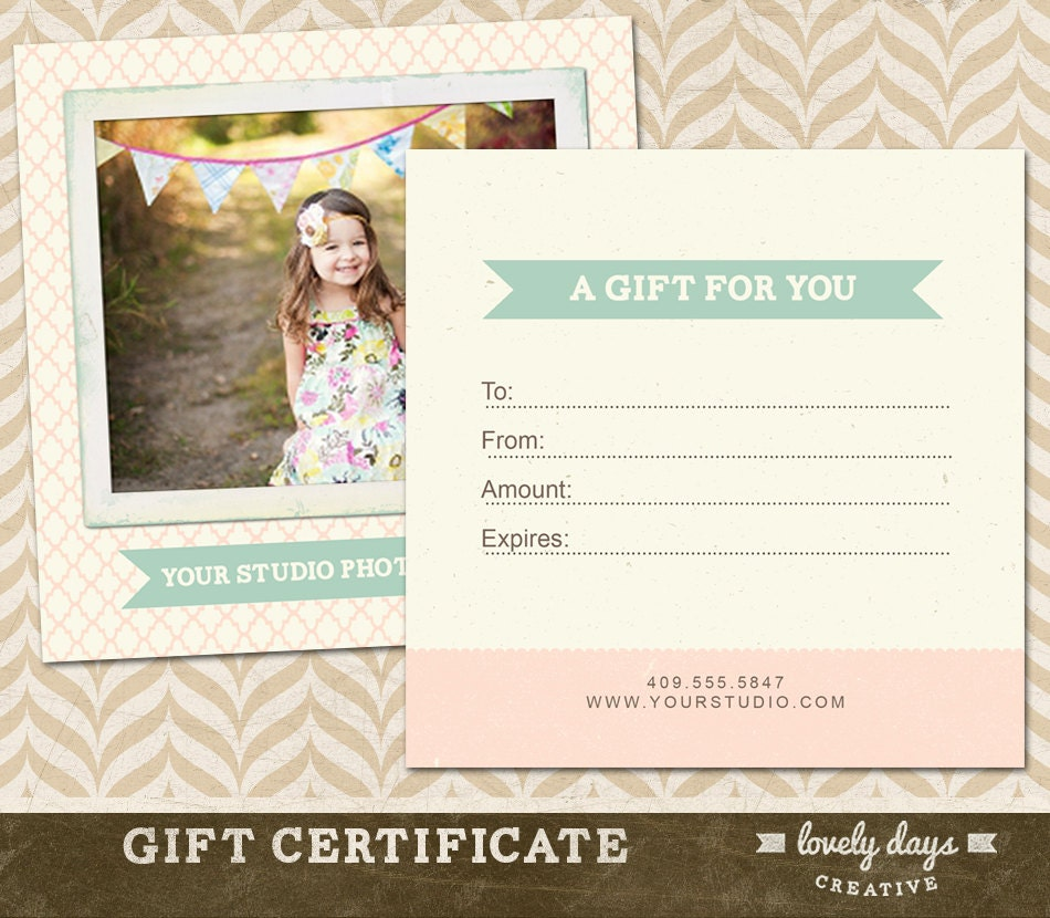 photography gift certificates templates free  Photography Gift Certificate Template for Professional