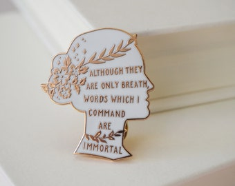 Sappho Enamel Pin - Women Poets Pin Collection -Book Lover - Feminist Pin - Literature Gift - Lapel Pin - Bookish Pin Badge - LGBT