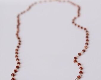 Goldstone Necklace in 14K GF
