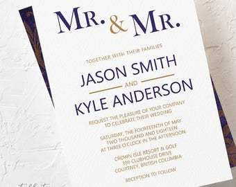 Royal Purple - Wedding Invitations (Style 13781)
