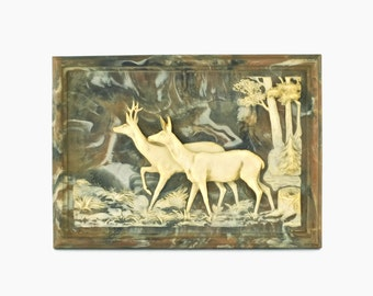 Vintage Incolay Studios White-Tailed Deer Wall Plaque