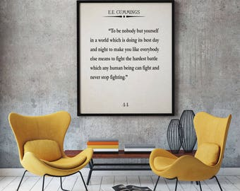 Literary wall art etsy ee cummings quote ee cummings poster ee cummings book wall art large book poster book quote solutioingenieria