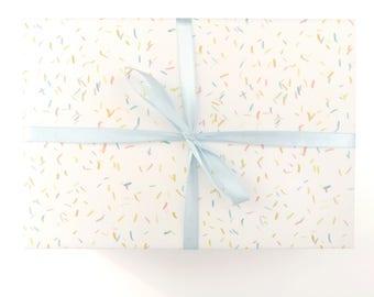 Confetti wrapping paper - confetti gift wrap party gift wrap confetti wrapping paper party wrap confetti wrap