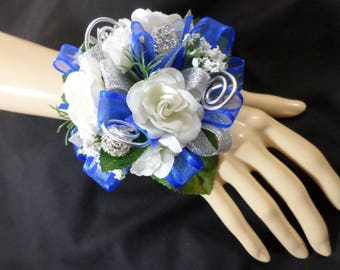 Wrist Corsage - White Silk Mini Rose Corsage - Floral Corsage - Mother of the Bride Corsage - Prom Corsage
