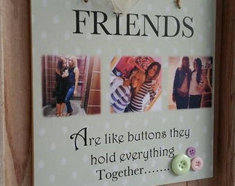 Friend Personalised Photo Plaque