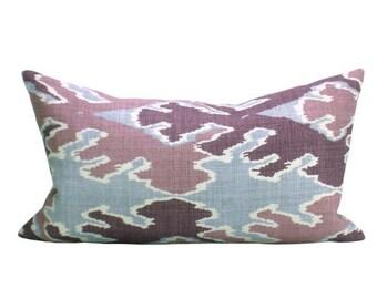 Bengal Bazaar lumbar pillow cover in Magenta